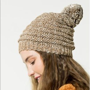 Stonewashed Knitted PomPom Beanies